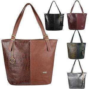 Animal-Print-Handbag-PU-Leather-Shoulder-Bag-Work-Office-Tote-Shopper-Fashion