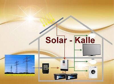 1500 watt pv anlage solaranlage hybrid mit akku speicher 1 phasig ebay. Black Bedroom Furniture Sets. Home Design Ideas