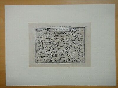 Cartina Geografica Romania Transilvania.Xvii Secolo Transilvania Romania Carta Geografica Ortelius Originale Ebay