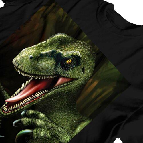 1Tee NIÑOS CHICOS TENEBROSO Jurassic Raptor Dinosaurio T-Shirt