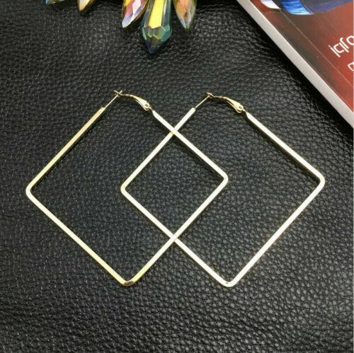 oro * nuevo * ohrhaken dorado Aretes triángulo trazos pastel Boho minimalista