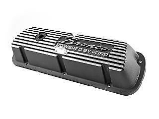 Ford Bronco Aluminum Valve Covers Black Brushed Scott Drake 289 302 351W