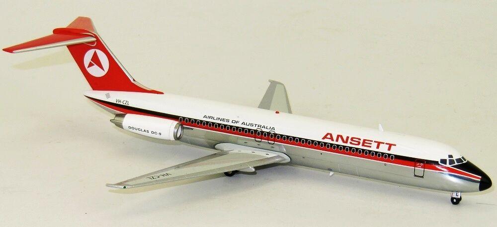 INFLIGHT 200 ifdc 90716P 1/200 Ansett compagnie aeree di Australia DC-9 VH-CZL lucido