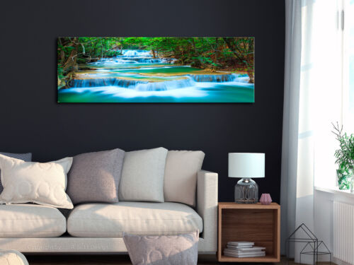Wandbilder xxl Wasserfall Natur Bilder Vlies Leinwand Leinwandbild c-B-0160-b-a