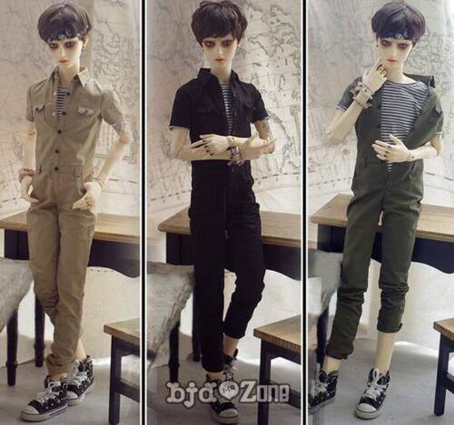 New SD13 SD17 BJD Doll Clothes Overalls Jumpsuit Army green //khaki //Black