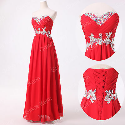 RED Long Prom Bridesmaid Evening Cocktail Formal Party Ball Gown Dress PLUS SIZE