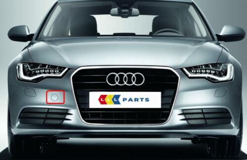 AUDI A6 4G 10-14 NEW FRONT BUMPER TOW HOOK COVER CAP PAINTED BY YOUR COLOUR CODE