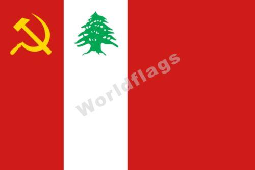 Lebanese Communist Party Flag 3X2FT 5X3FT 6X4FT 8X5FT 100D Polyester Banner