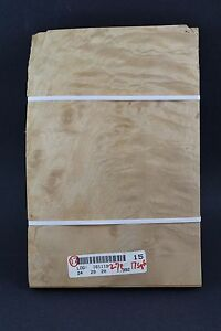 Quilted Burl Maple Raw Wood Veneer Sheets 8 x 20 inches 1//42nd Lot 109