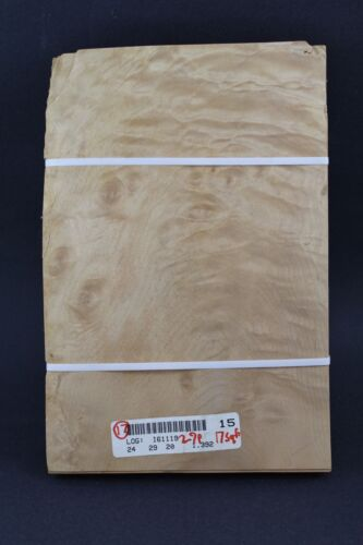 """Quilted maple molted raw wood veneer 11 1//2/"""" x 7 3//4/"""" x 1//42/'/' ONE SHEET"""