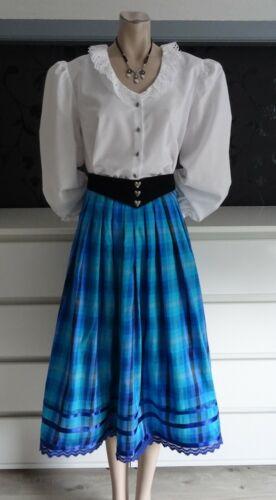 Dirndl Skirt Silk German Bavarian Blouse Belt Outf