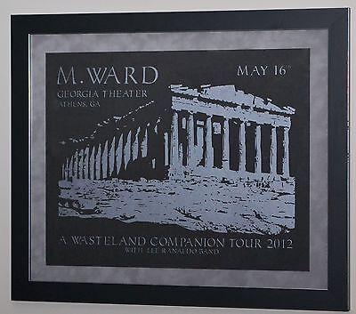 M. WARD #1/30 A WASTELAND COMPANION TOUR 2012 Georgia Theatre Athens FRAMED