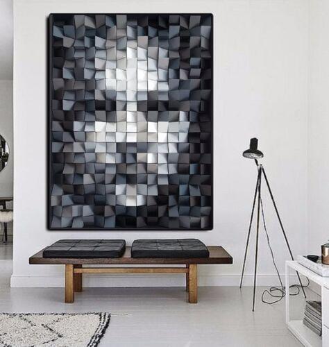 XXL LEINWAND BILD 127x95x5 WÜRFEL-GESICHT-3D ABSTRAKT MODERN-ART WANDBILD