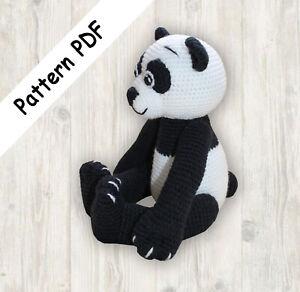 Oso panda con bufanda: Amazon.com.mx: Handmade | 292x300