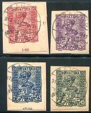JUGOSLAWIEN 1918 51-54U gestempelt SELTEN (D4427