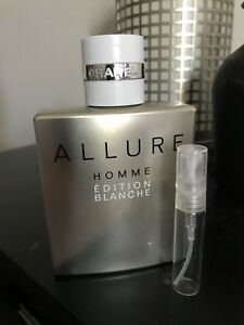 Chanel Allure Homme Edition Blanche Edt Concentree 5ml Sample Spray