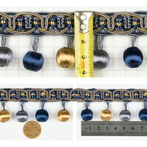 Image is loading Ball-String-Trim-Ribbon-Curtain-Decor-Fringe-Bullion- 2c46cf991