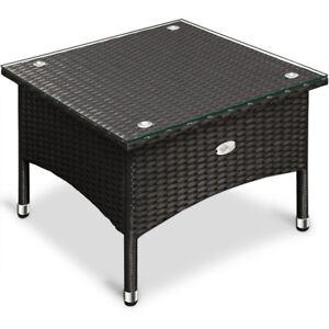 taille 40 fdbd4 603d8 Détails sur Table basse - table d'appoint polyrotin - 50x50 x45cm - Noir -  Maison/Jardin