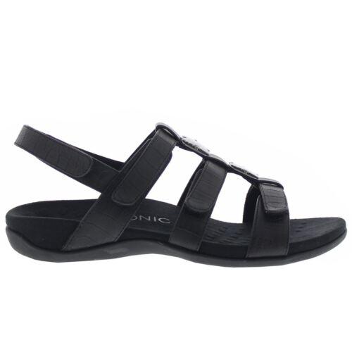 Vionic 44 Amber Black Womens Sandals