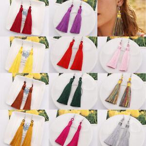 Fashion-Bohemian-Jewelry-Long-Tassel-Fringe-Boho-Ear-Hook-Drop-Dangle-Earrings