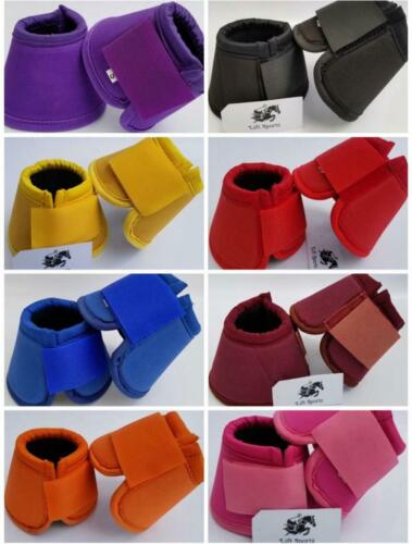 Horse Bell Boots Over Reach No Turn Bell Wrap All sizes Tack Protection Equine