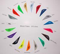 Blazer Vanes (new) W/logo 19 Colors Mix/match Pkg 500