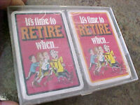 Vintage Playing cards decks deck It's time to retire when.......sealed package