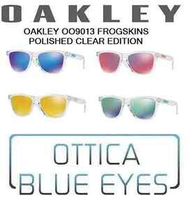 Occhiali-da-Sole-OAKLEY-Frogskins-9013-Iridium-Frogskin-CLEAR-ED-Sunglasses-new