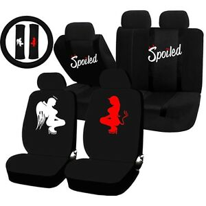 Remarkable Details About 22Pc Spoiled Angel Devil Good Vs Evil Seat Covers Steering Wheel Set Universal Andrewgaddart Wooden Chair Designs For Living Room Andrewgaddartcom