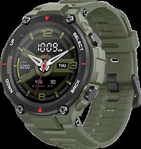 Amazfit-T-Rex-1-3-034-SMARTWATCH-SMARTUHR-12-Militaer-Zertifizierungen-robuste-Koerper-Army-Green