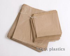 Bag It Plastics Pack of 100 Brown Paper Bags - 250 x 250 mm