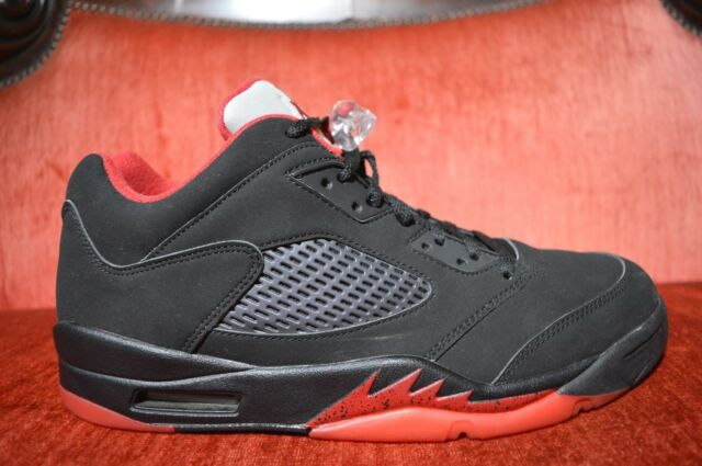 Air Jordan 5 V Retro Low Alternate 90 Black Gym Red 819171-001 Sz ... 8749bbbf7