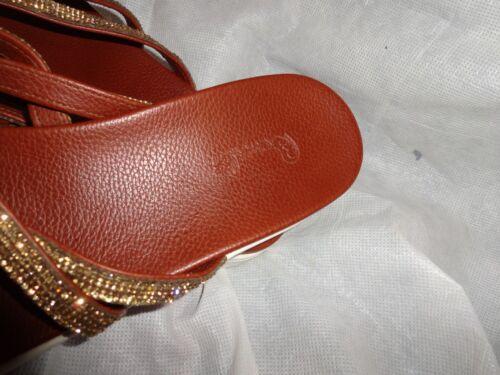 donna borchie Bambi in 39 9 Uk delle con Us 6 Pantofole Eu oro dita divise Vgc gTnq04
