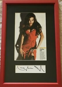 Angelina-Jolie-signed-autograph-framed-with-sexy-magazine-photo-JSA-Auction-LOA
