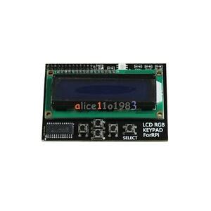 I2C IIC 16x2 RGB LCD Display Shield 1602 Blue Backlight For Raspberry Pi B+//B