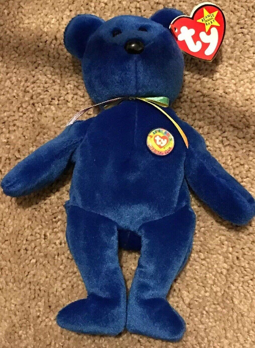 RARE Ty Beanie Baby -  Clubby   Official Club Bear - w  Many Extras