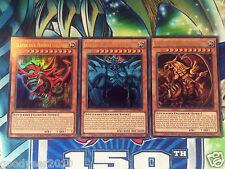 Yu-Gi-OH  GÖTTERKARTEN SET SLIFER OBELISK RA LDK2-DES01/S02/S03 UR DE NM LIM.AUF
