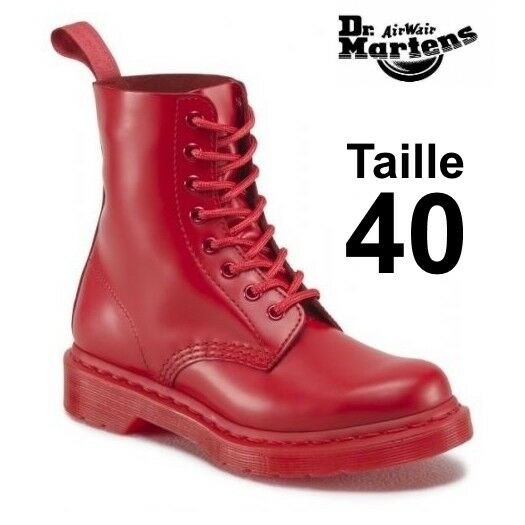Dr Martens 1460 Pascal mono poppy red, taille 40 EU ( 6,5 UK) NEW in box