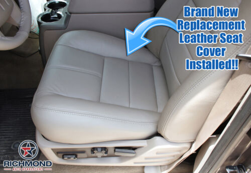 2008 Ford F250 F350 Lariat LIFTED Driver Side Bottom Leather Seat Cover Gray