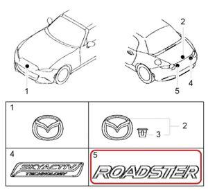 """[NEW] JDM Mazda Roadster ND Emblem Rear """"ROADSTER"""" Genuine OEM MX-5"""
