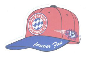 FC-Bayern-Muenchen-Aufkleber-Cap-034-forever-Fan-034-Logo-Bundesliga-Fussball-123