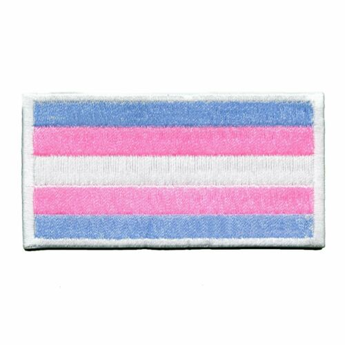 Transgender Pride Embroidered Iron On Flag Patch