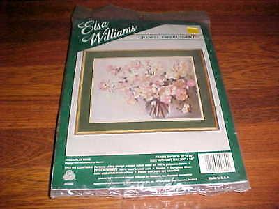 Donald Art Comapny Elsa Williams Crewel Embroidery Rouvier Magnolia Vase New