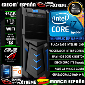 Ordenador-Gaming-Pc-Intel-i7-16GB-DDR3-1TB-GT710-2GB-WIFI-Windows-10-Sobremesa