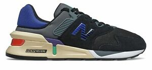 New Balance Men's 997 Sport Shoes Black with Blue
