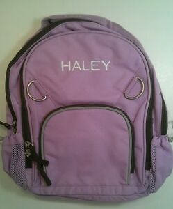 Pottery Barn Kids Small Fairfax Lavender Brown Backpack