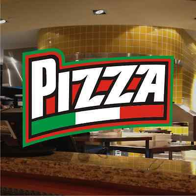 Pizza Italian Fast Food Catering Sign Window Restaurant Stickers Graphics Decal