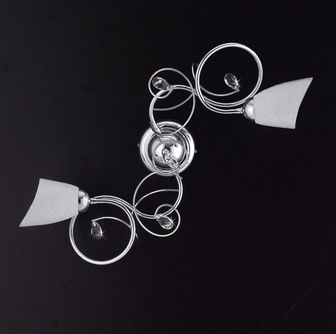 Lampada soffitto plafoniera moderno cromo strass cristalli prodotto italiano | | | Belle  93f241