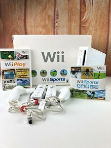 Nintendo-Wii-White-Console-RVL-001-Wii-Sports-Bundle-Game-Cube-Compatible-In-Box