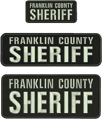 SHERIFF EMB PATCH 4X10/&2X5 HOOK ON BACK MULTICAM//GRAY